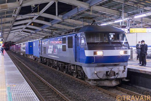 2019.4.11 19:57撮影 4096レ 南越谷駅