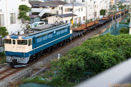 EF65-1105 工9865レ 新小岩(信)~金町間