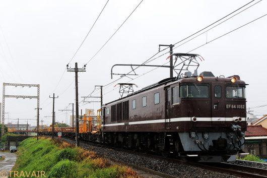 EF64-1052 工9872レ 金町~新小岩(信)間
