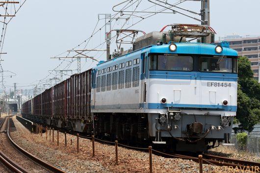 EF81-454 4083レ 千早(操)~箱崎間