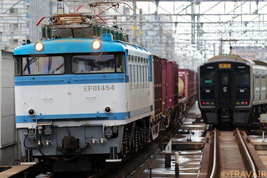 EF81 454 遅5057レ 吉塚駅