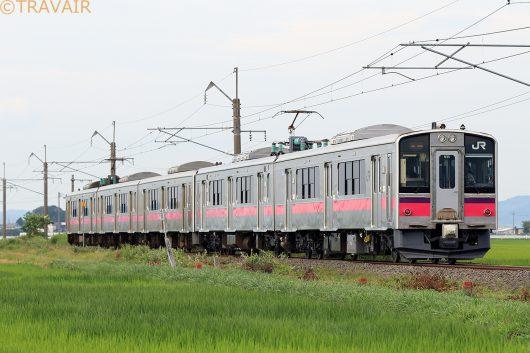 701系5連 661M 北常盤~川部間(後追い)