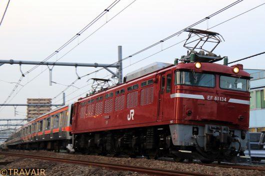 EF81-134 E231系配給