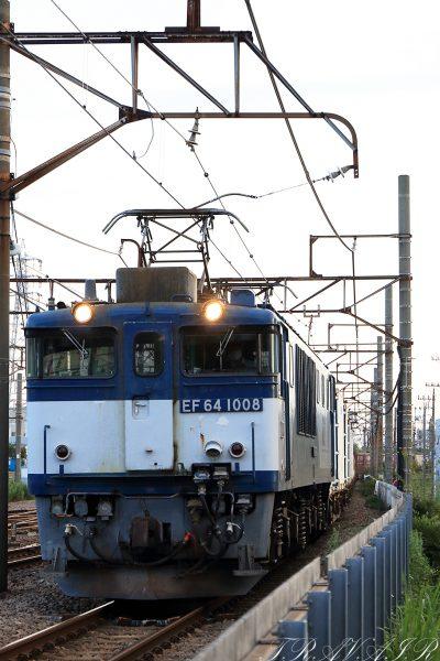 EF64-1008 2020.8.1 17:36撮影 1094レ 浜川崎~川崎貨物間