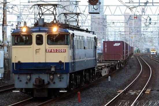 EF65-2091 18:29撮影 1092レ 市川駅