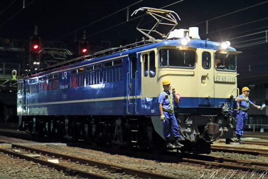 EF65-1115入換