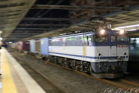 EF65-2063 1090レ 市川駅
