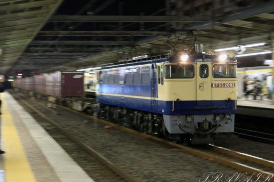 EF65-20921092レ 市川駅