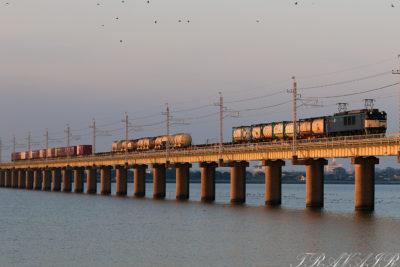 EF64-1026 1095レ北浦橋梁
