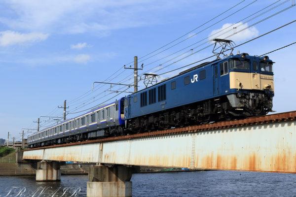 EF64-1032 E235系配給 配9645 新鶴見(信)~鶴見間
