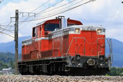 DD51-842 単機回送