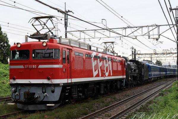 EF81-95 D51-498回送 回9141レ 片岡~矢板