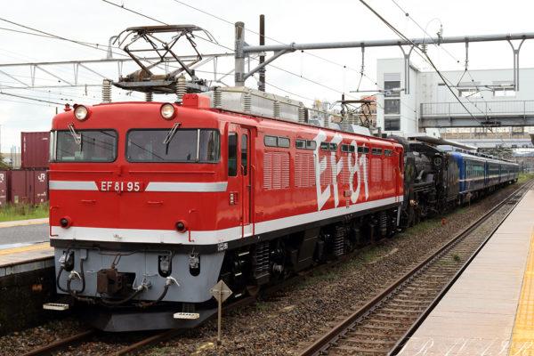 EF81-95 配9141レ 矢板駅