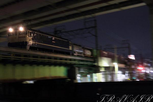 EF65-2081  1090レ 綾瀬~北千住間
